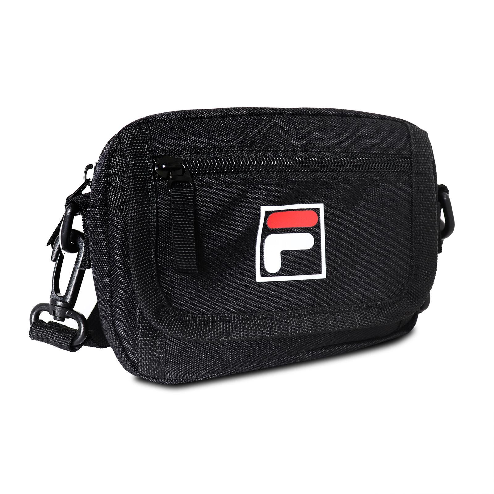 FILA 斜背包 Crossbody Shoulder Bag 黑 白 男女款 外出 側背【ACS】 BMV3018BK