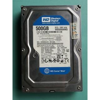 WD威騰 500GB(500G/ 500.1GB) 3.5吋 SATA硬碟 WD5000AAKS-00UU3A0 檢測不良 桃園市