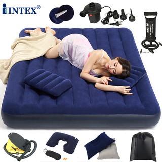 現貨INTEX充氣床墊單人家用氣墊床 雙人加大折疊戶外午休床墊旅行躺椅充氣床墊 睡墊 氣墊床 充氣床 自動充氣床 露營床