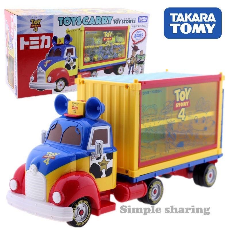 (全新現貨)TOMY多美卡迪士尼玩具總動員4 TOMICA運輸卡車貨車收納盒女孩玩具(夾娃娃機)