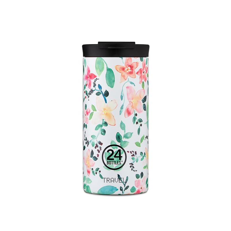 【24Bottles 城市水瓶】保溫隨行杯 600ml/紅杉木紋