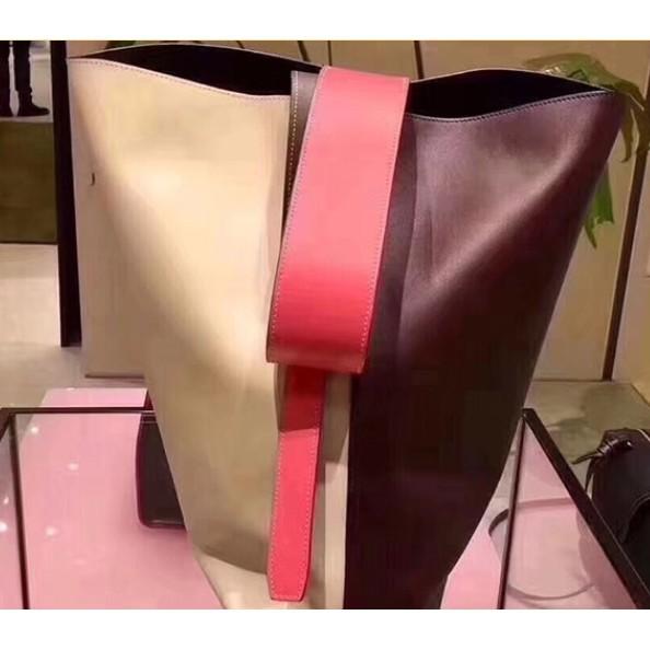 Celine Twisted Cabas拼色可調節 手提包 水桶包 肩背包 寬肩帶 手提陳