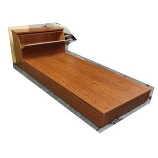 3.5尺單人加大房間組 二件床組(床頭箱+床底)-柚木紋 單人床架 3.5X6.2呎 單人加大床組 床板床底床台木床箱 新北市