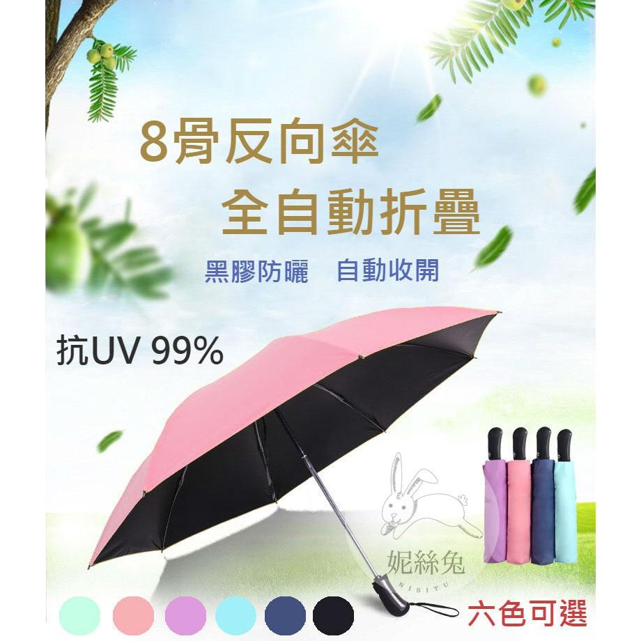特價299*快速出貨*八骨反向傘抗風自動摺疊雨傘 抗UV自動傘 防風傘 雙人傘 晴雨傘 抗強風遮陽傘