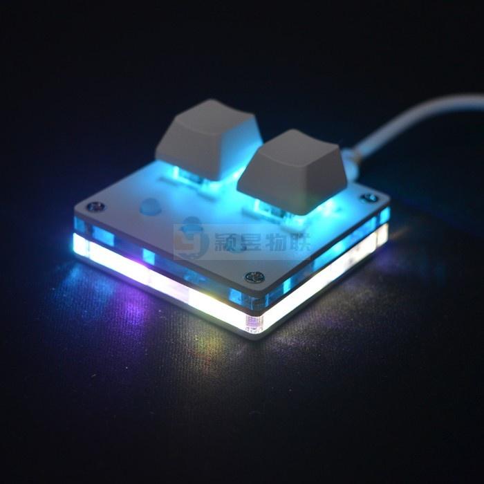 2鍵高配版迷你小鍵盤復制粘貼自定義快捷鍵音游改鍵一鍵密碼OSU