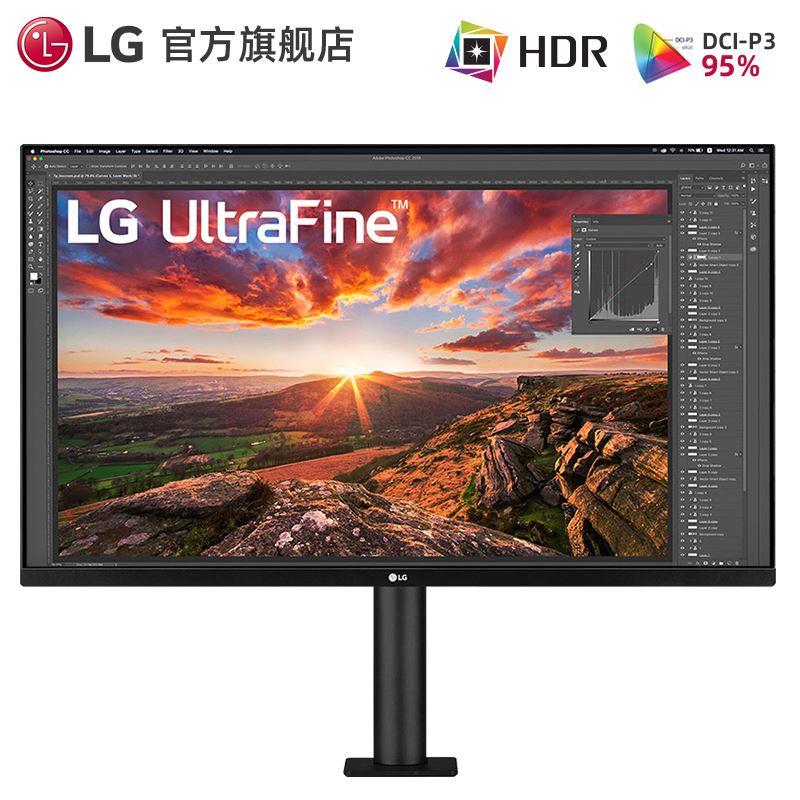 時尚~[官方旗艦店]LG 32UN880 32英寸4K顯示器Ergo支架人體工學Type-c充電設計後期電腦PS5遊戲音