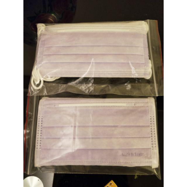MIT鋼印/三層防塵口罩/成人紫色/10入