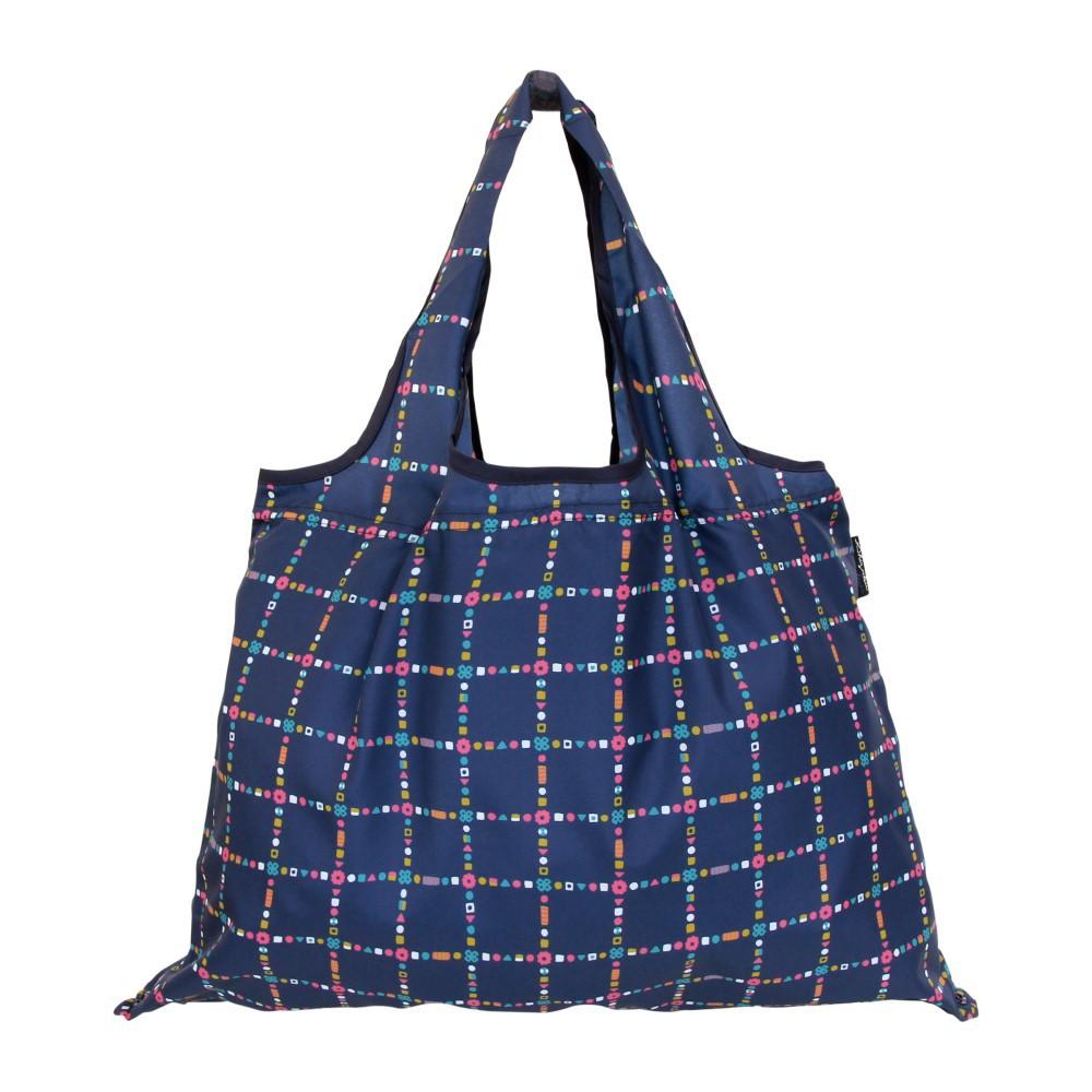 日本派迪 2Way 隨身收納環保購物袋-深海藍
