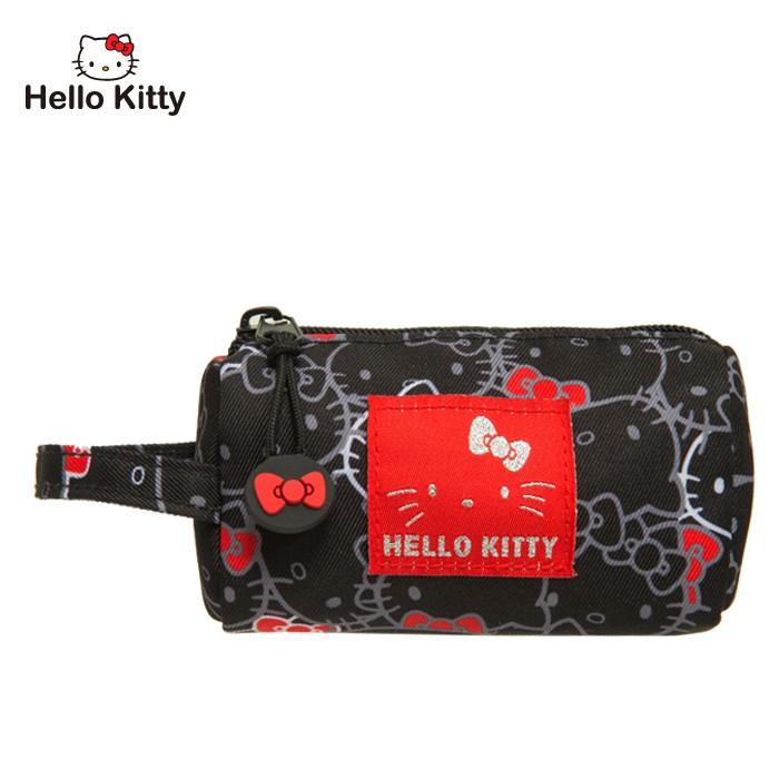 Hello Kitty 繽紛凱蒂-圓筒零錢包-黑 KT01V06BK 零錢包