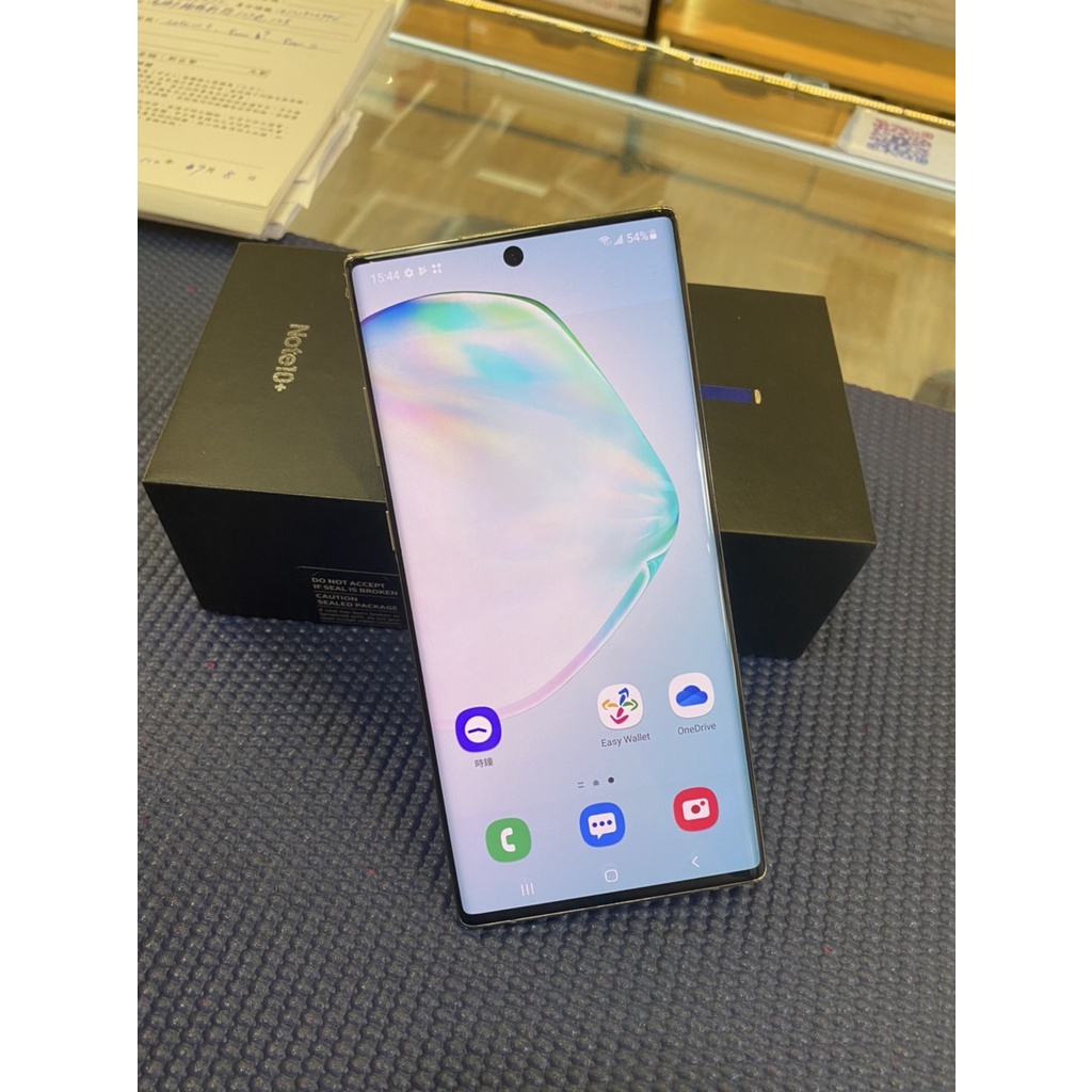 奇機通訊(楠梓店)-售二手 9成新 Samsung Galaxy Note10+ 星環銀 12G+256G 6.8吋