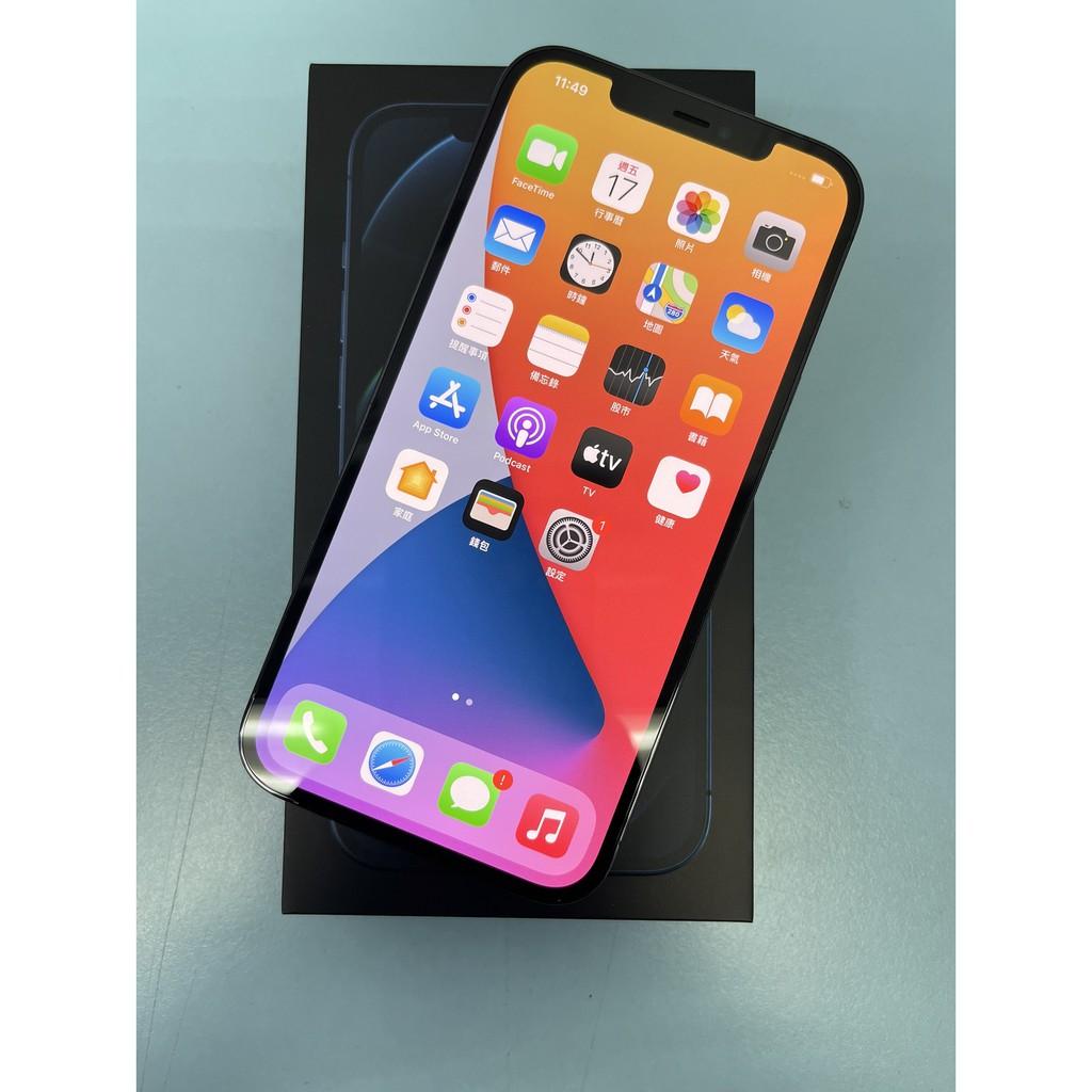 iPhone 12 Pro Max 256G 6.7吋 太平洋藍 #二手機 #保固中 #漢口店 31347