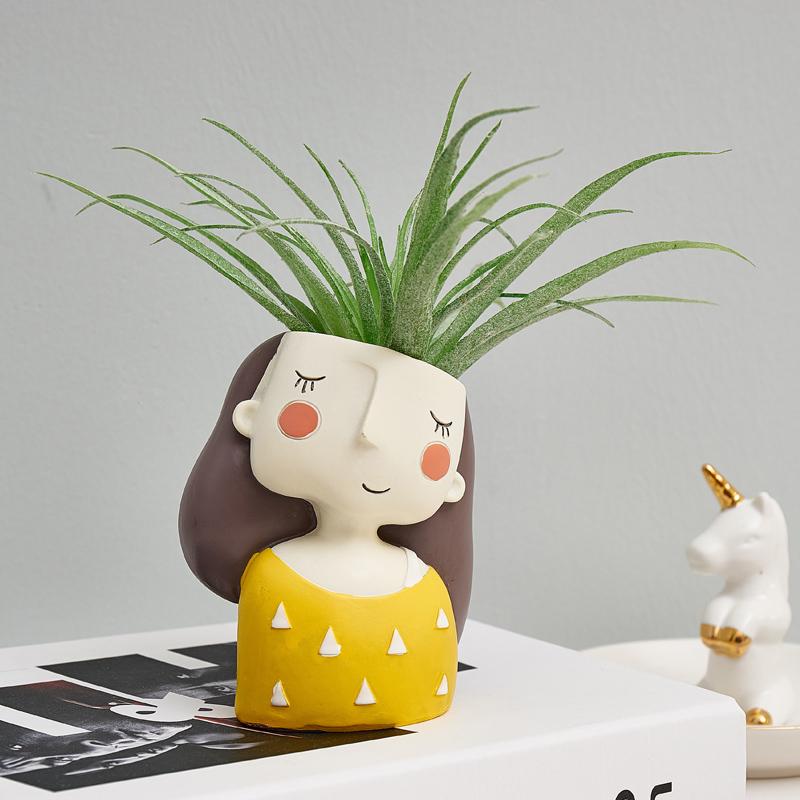 創意女孩仿真多肉植物假花家居客廳辦公室桌面迷你綠植可愛小擺件