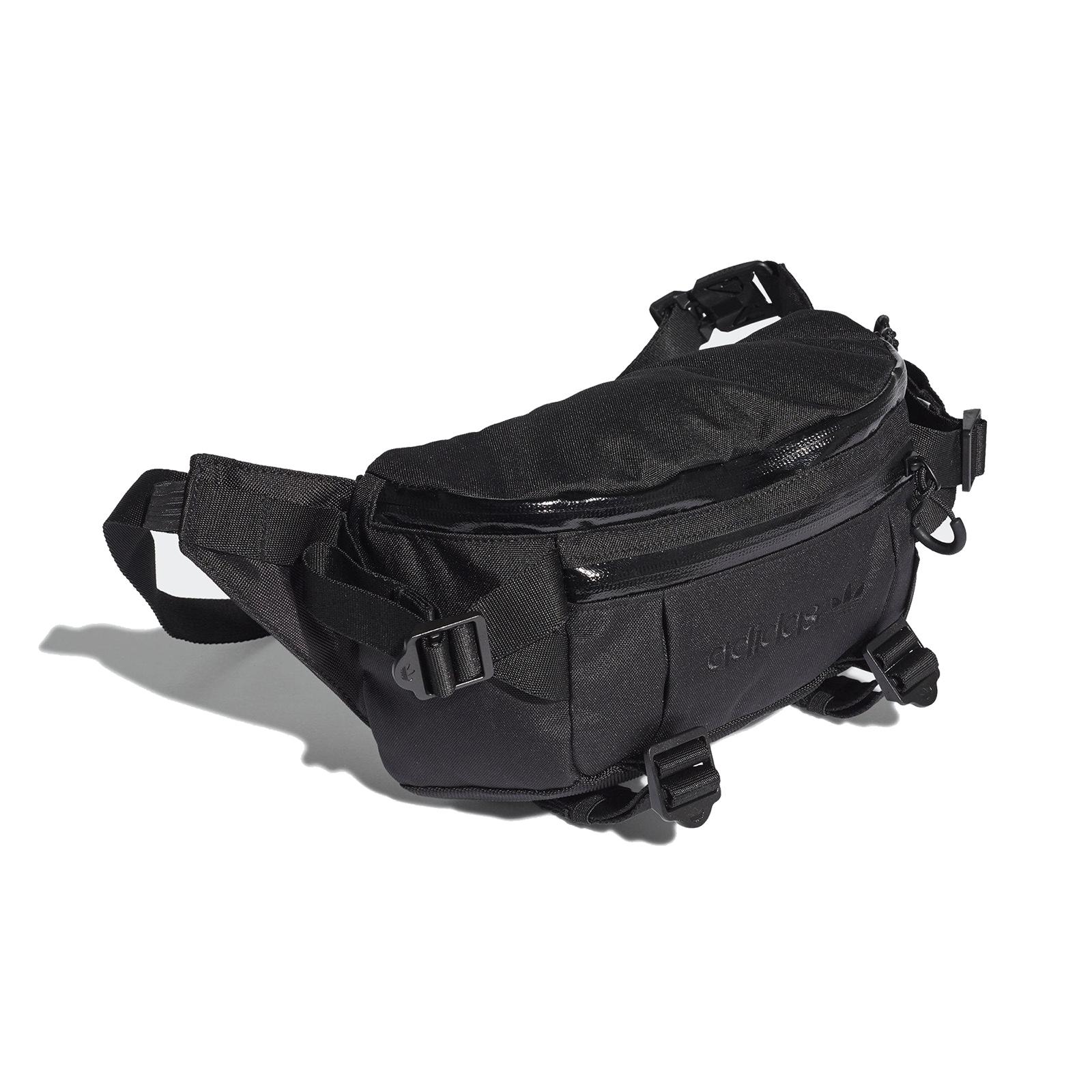 adidas 腰包 Adventure Waist Bag 全黑 男女款 可調整 包包 愛迪達【ACS】 GD5013