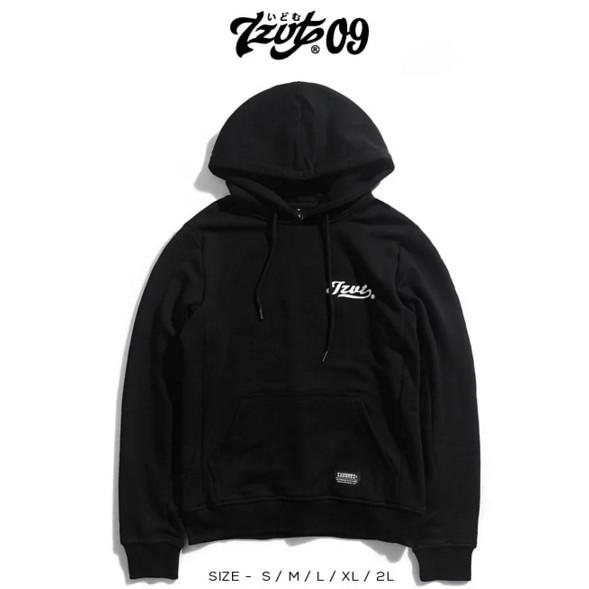 IZZVATI (7)素黑色拼接連帽T恤-無刷毛-黑色-I30714