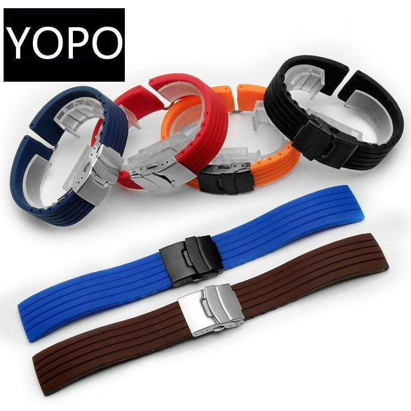 [Bolanxun] Mido helmsman Xijia Breitling 公民橡膠運動手鍊的矽膠錶帶