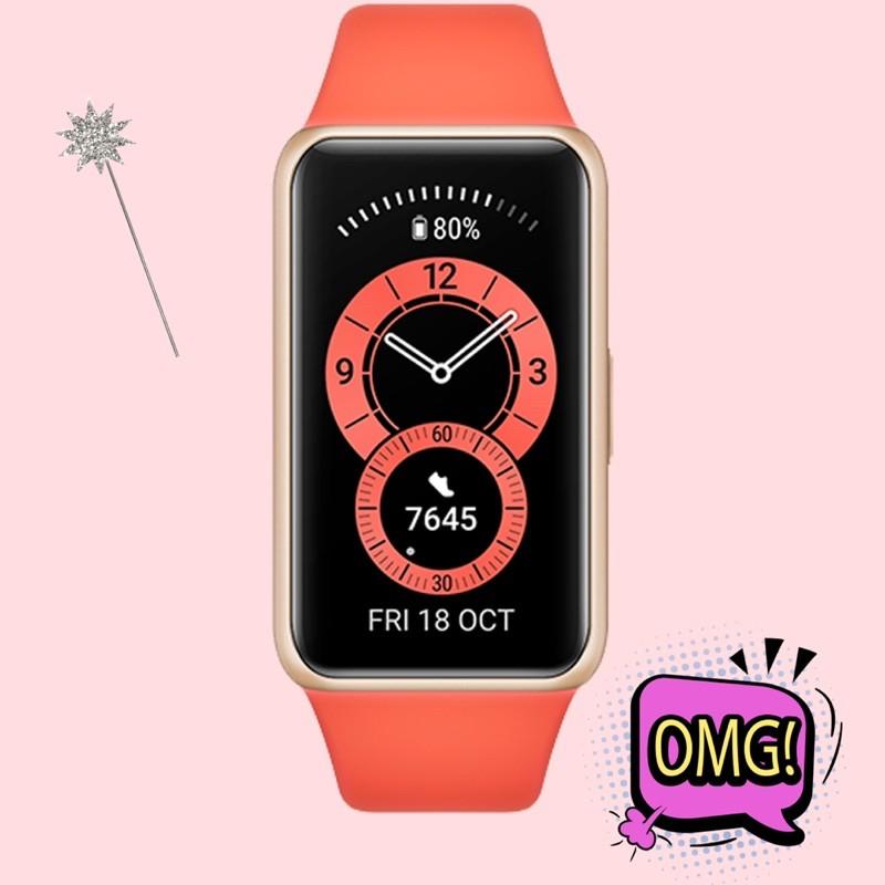 血氧🔥心率🔥智慧健康手環HUAWEI band6 測心率測血氧 粉色、黑色.橘色