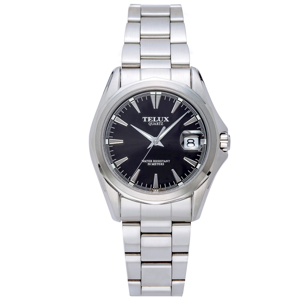 台灣品牌手錶腕錶【TELUX鐵力士】復刻經典男腕錶手錶39MM台灣製造石英錶7000W-BK11黑面