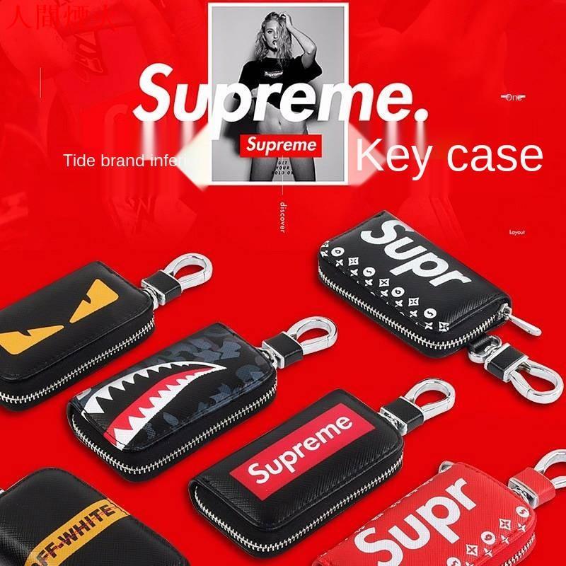 【】潮牌Supreme汽車鑰匙包新款 鑰匙包 鑰匙收納 汽車鑰匙包 鑰匙套 鑰匙皮套 mazda 鑰匙 車鑰匙套
