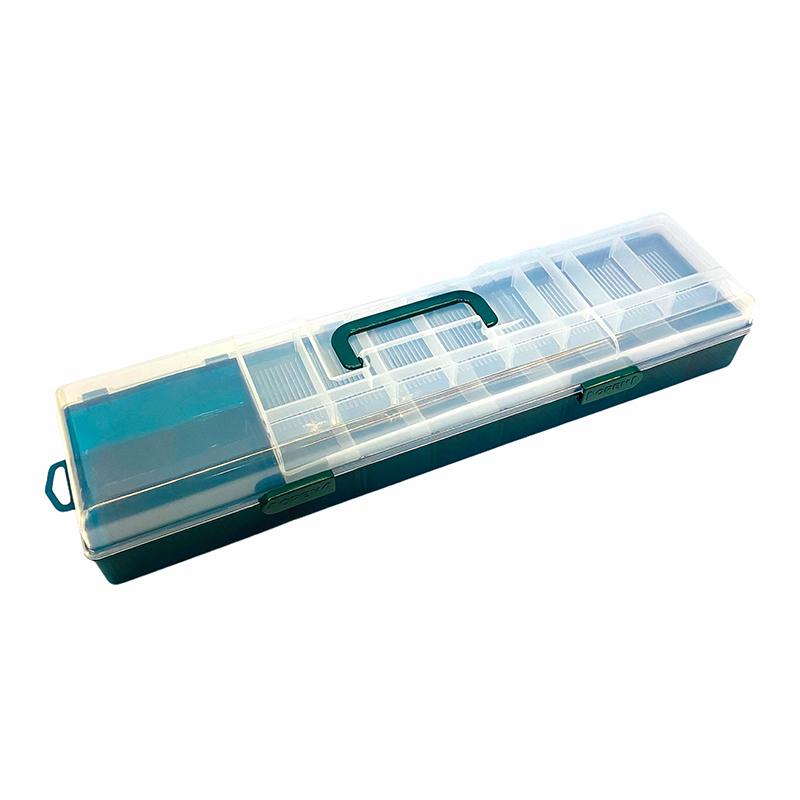 多功能工具盒-綠色(大) 中壢鴻海釣具館 釣蝦工具箱  手提收納箱 可放蝦竿 53cm 需宅配