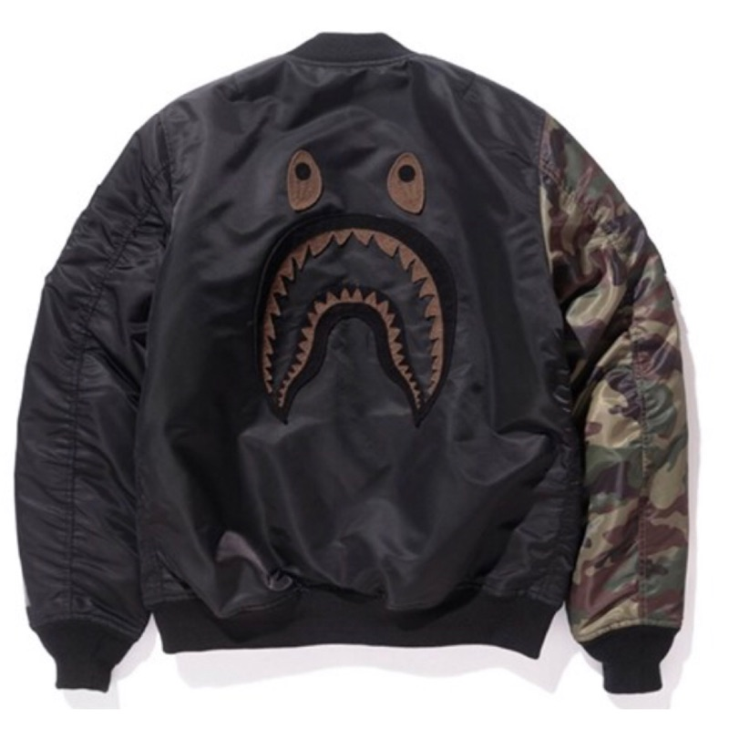 UNDEFEATED BAPE 聯名 鯊魚 WGM MA1