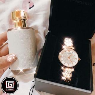 ARMANI 阿瑪尼 女士手錶 防水時尚手錶 商戶手錶 石英手錶 滿天星镶钻潮流鋼帶 簡約手錶 AR1926 桃園市