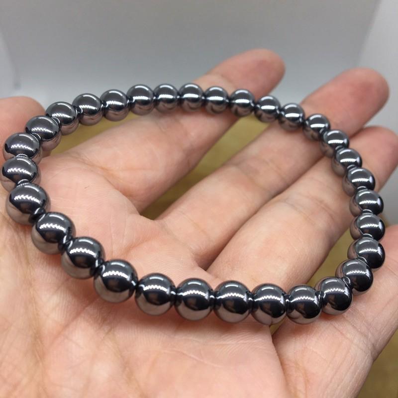 童心水晶玩-高質量 高品質 鈦赫茲 6mm圓珠手鍊