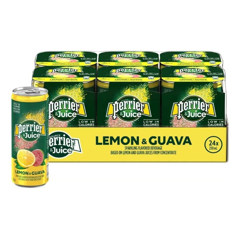 Perrier 沛綠雅 氣泡綜合果汁 檸檬芭樂口味 250毫升 X 24入  【好市多線上購物代購】