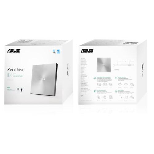 ASUS ZenDrive U9M SDRW-08U9M-U 銀/黑 外接光碟機【每家比】