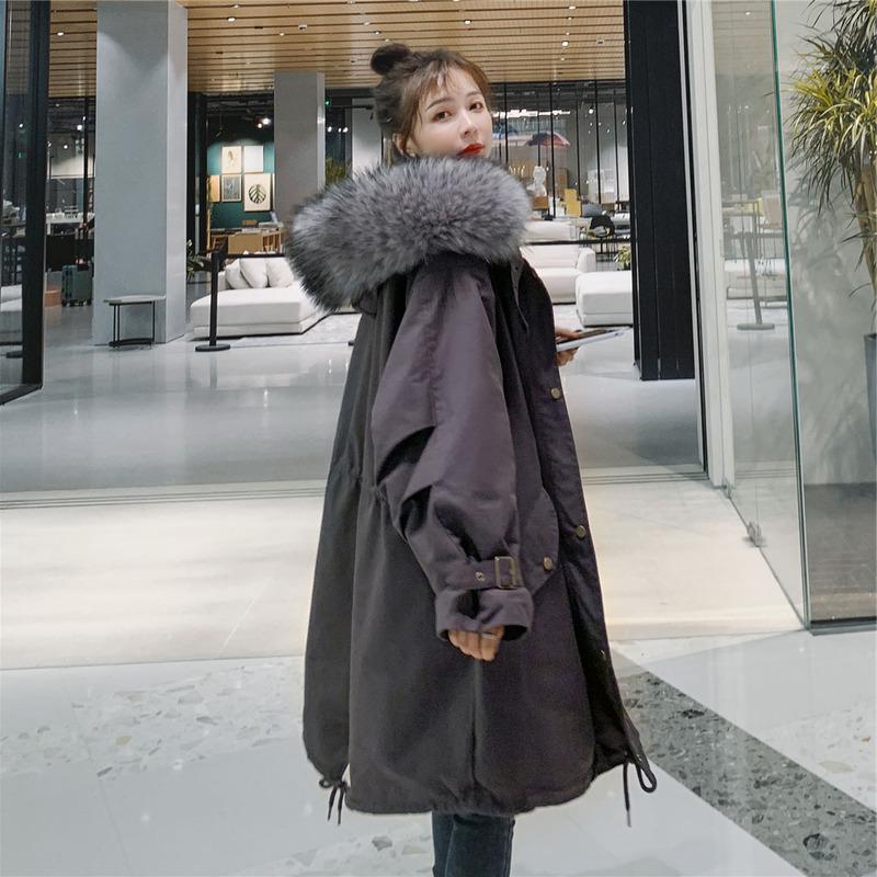 【每日優選好物】工裝派克服中長款冬2020新款小個子棉服韓版寬鬆加絨大衣外套