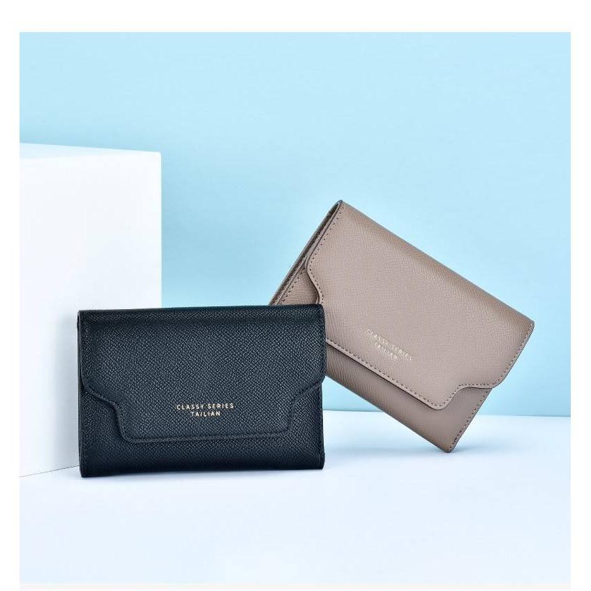 【現貨】TAILIAN時尚wallet women掀蓋三折式皮夾