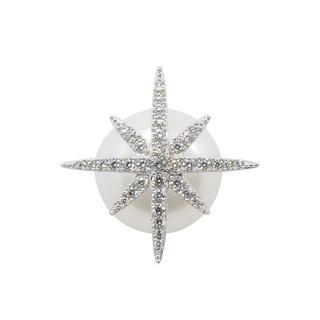 apm MONACO法國精品珠寶 閃耀銀色鑲鋯繁星珍珠單邊耳針式耳環 AE9109XPL 台北市