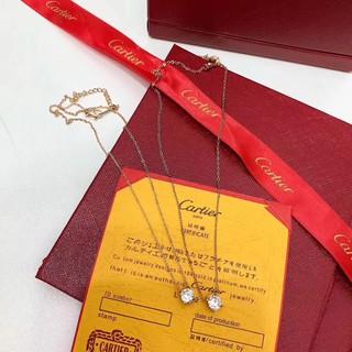 Cartier卡地亞項鍊 鑲鑽項鍊 鑽石鎖骨鍊 鑽石頸項鍊 卡地亞短項鍊