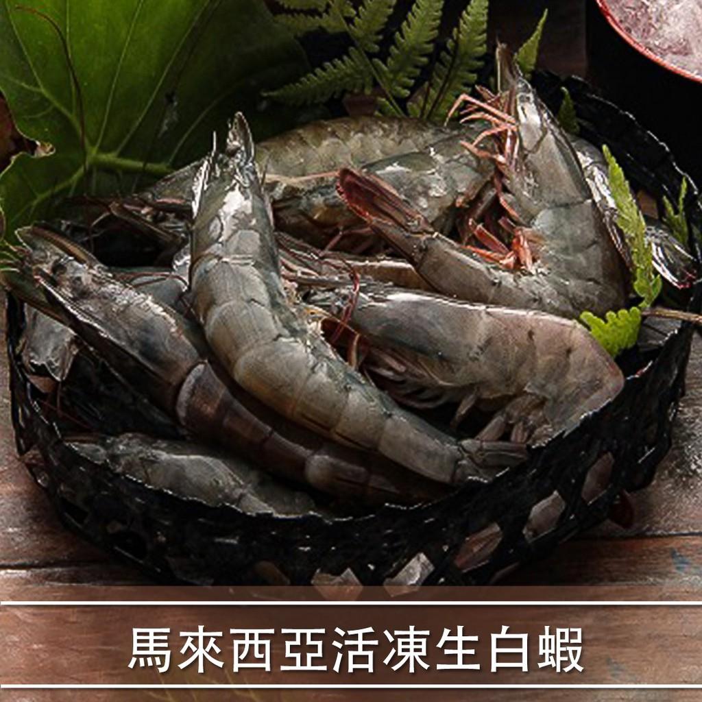 [每周一市集]-馬來西亞活凍生白蝦(規格21/25 600g/盒)