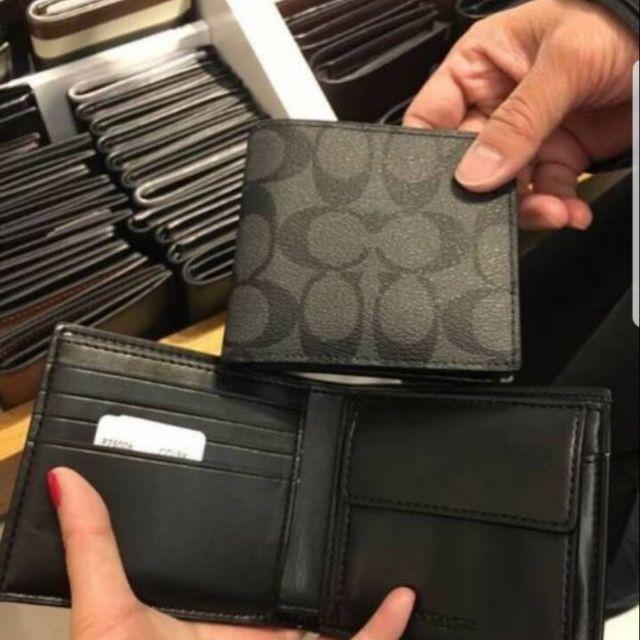 多多代購· COACH 75006 零錢袋款黑灰*1
