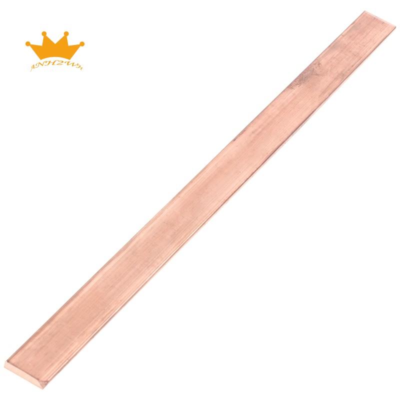 (現貨)99.6%T2紫銅銅扁鋼平板3mm 15mm x 250mm金屬帶