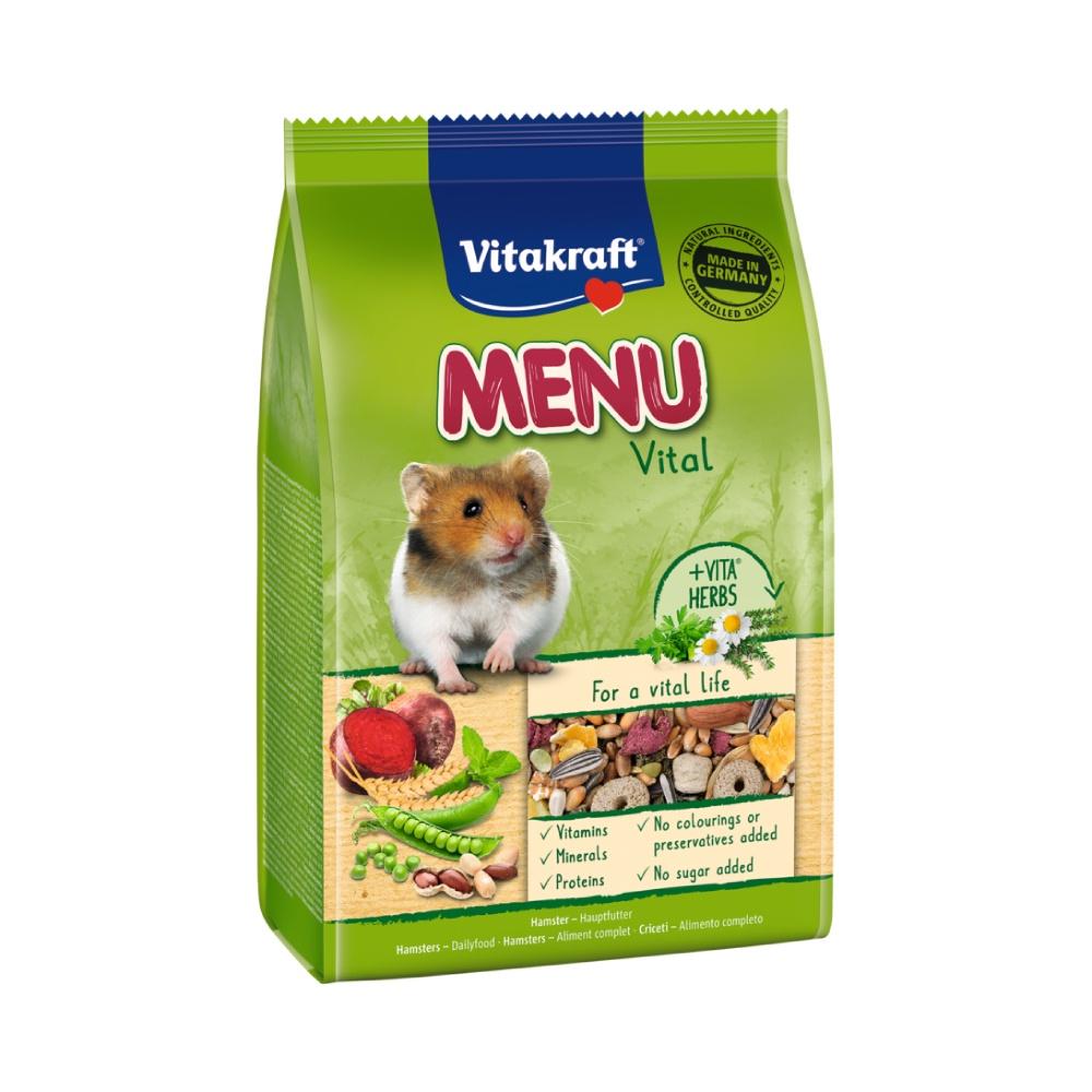 【現貨】🔜快速出貨🚚 Vitakraft 天然食譜系列 倉鼠主食 鼠飼料 倉鼠主食 黃金鼠/倉鼠飼料 400g