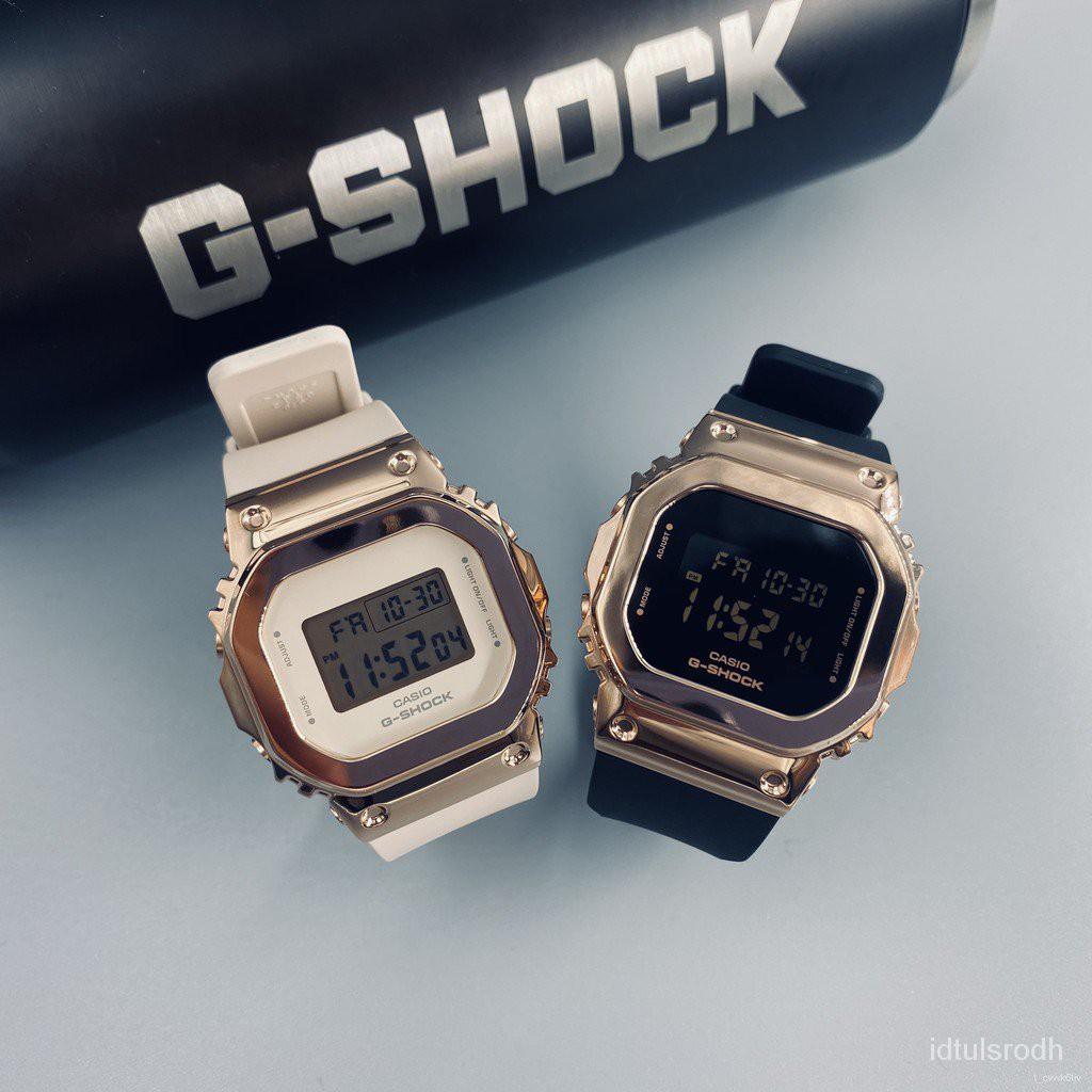 2021開學速遞卡西歐GSHOCK女款金屬小方塊防水手錶GM-S5600-1PR/S5600PG-1/4PR XNbb秋