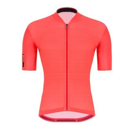 【騎蜂單車】義大利 Santini 專業車衣 【色彩】短袖車衣- 石榴
