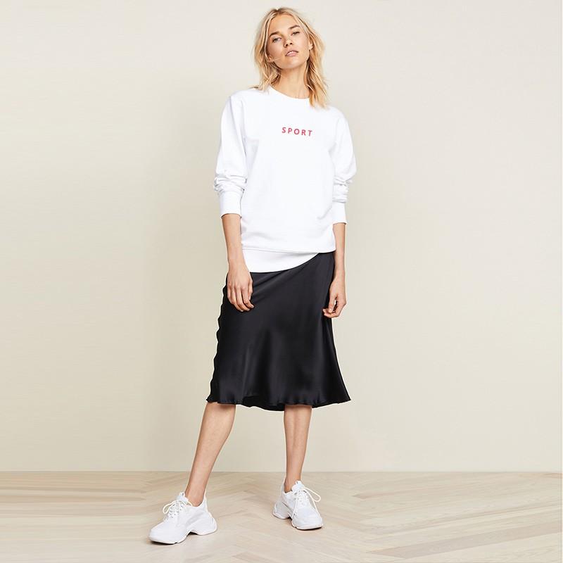 【D'Fina 歐美款女裝】休閒印花 寬鬆圓領套頭百搭衛衣