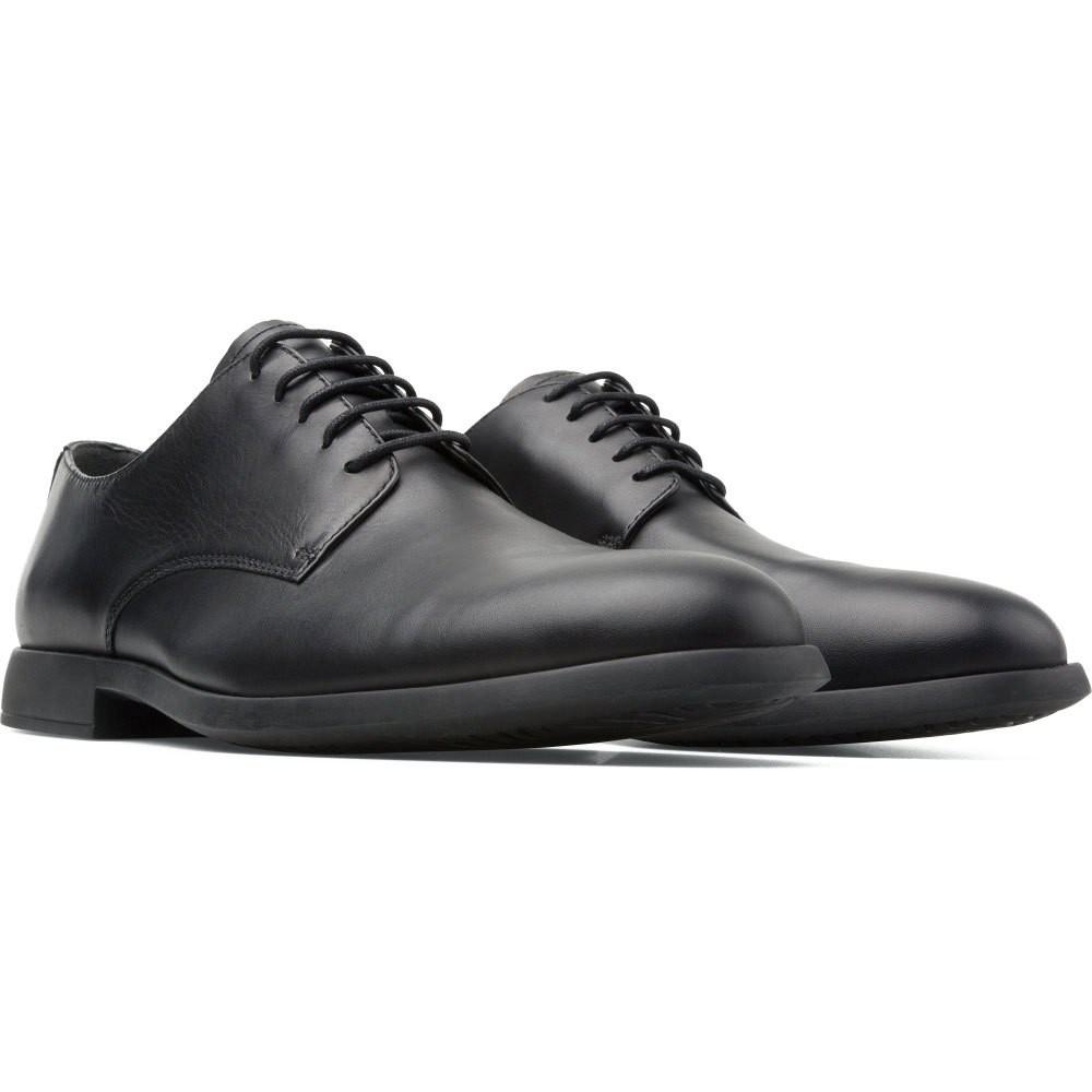 Camper Truman Nappa 男款牛皮上班族最愛皮正式紳士鞋 皮鞋 黑K100243-001 熱銷補貨到