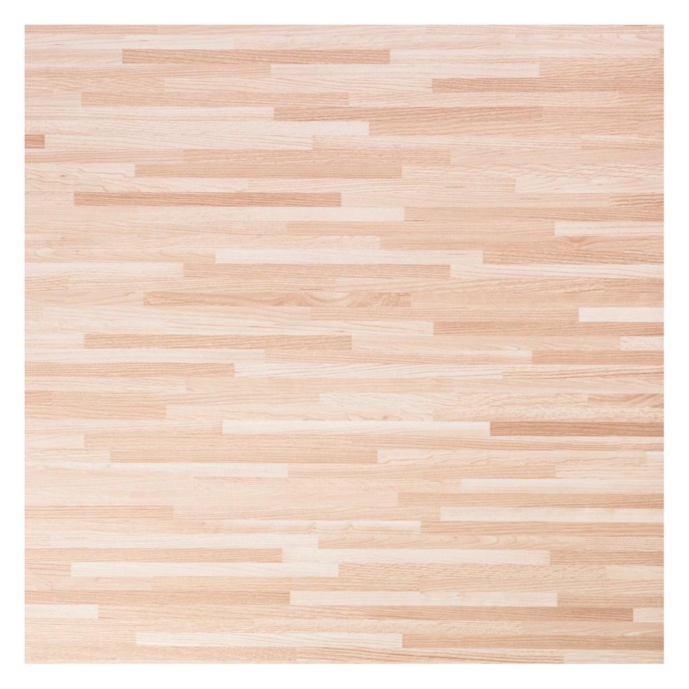 塑膠地磚 18吋 淺拼花木 型號00-W901-6 半坪裝