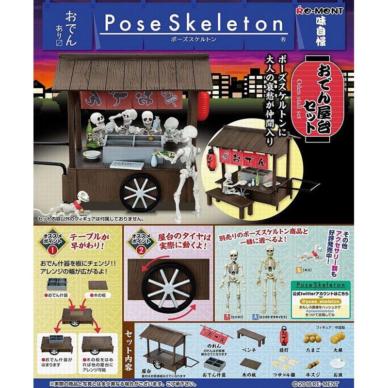 【日玩獵人】RE-MENT(盒玩)Pose Skeleton系列-關東煮台車 全1種