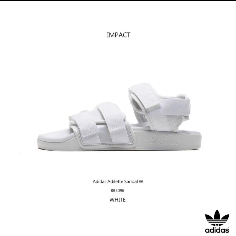 愛迪達Adidas繃帶涼鞋白 魔鬼氈