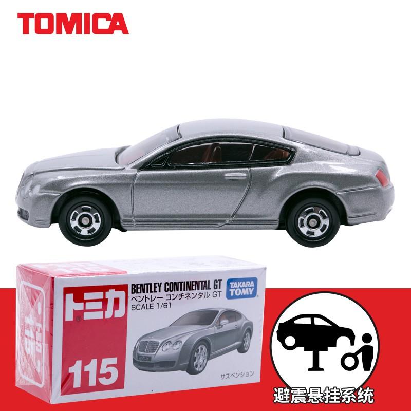 【shu】日本TOMICA多美卡仿真小車合金車模型玩具 賓利GT小轎車 銀灰#115