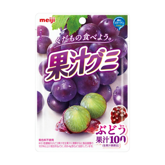 明治果汁QQ糖葡萄 51g/包  【大潤發】