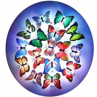 ❣生活百貨❣發光蝴蝶創意 3D可粘貼 蝴蝶小夜燈七彩發光仿真LED 高雄市