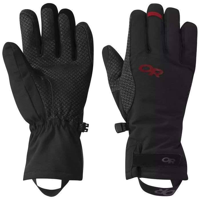 OUTDOOR RESEARCH 女 防水透氣保暖彈性手套 OR OURAY ICE GLOVES 黑/紅 268051