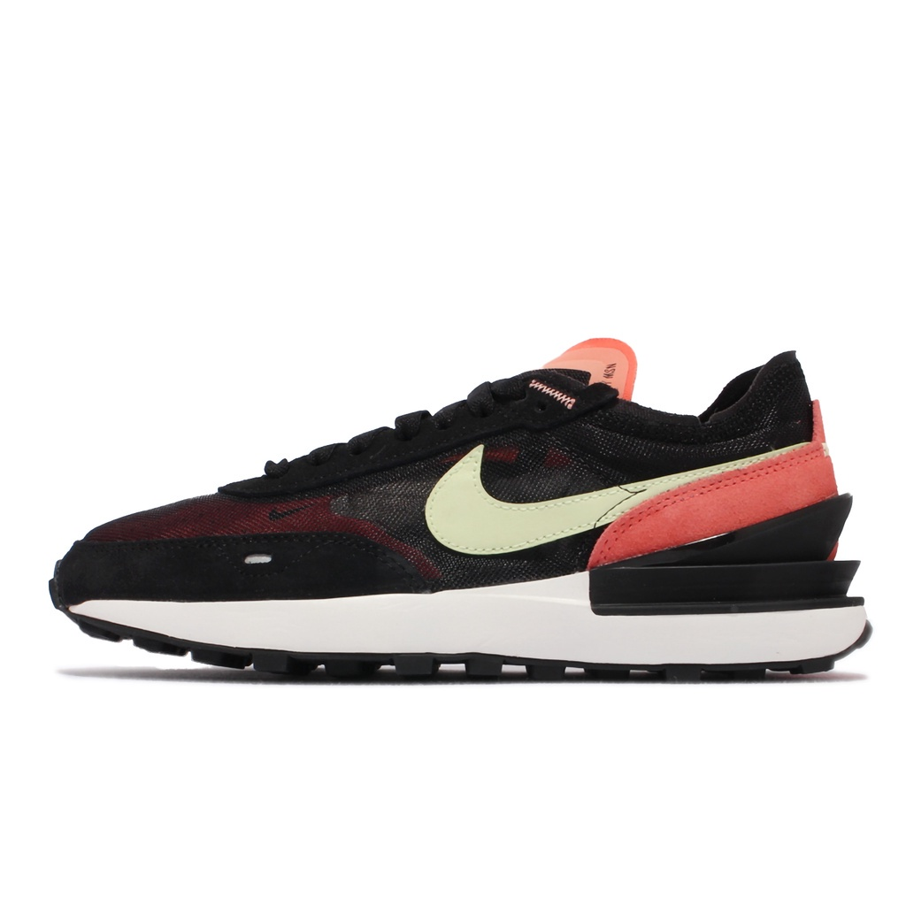 Nike 休閒鞋 Wmns Waffle One 黑 橘紅 綠黃 女鞋 小Sacai 【ACS】 DC2533-002