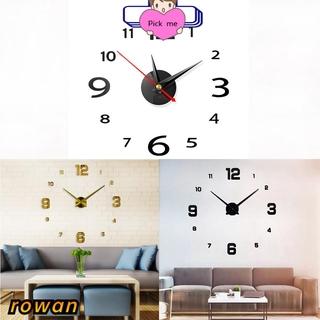 排現代設計掛鐘 3d 石英鐘錶鏡面鐘錶 Diy 家居裝飾客廳石英針亞克力牆貼鐘金 /  紅 /  銀