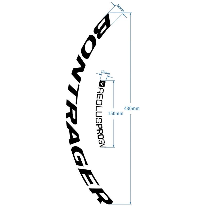 readu棒槌哥Bontrager Aeolus Pro3VTLR碟剎公路車車圈自行車貼紙